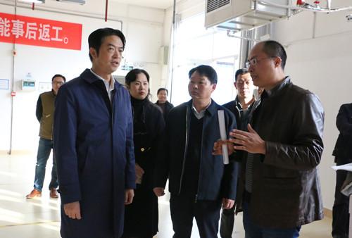 中国服装协会来潜考察