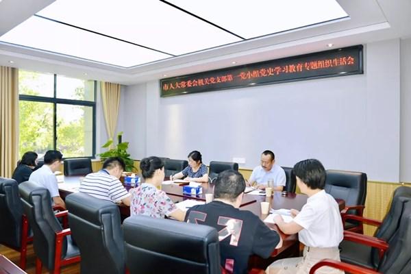 舒敏参加机关党支部第一党小组党史学习教育专题组织生活会